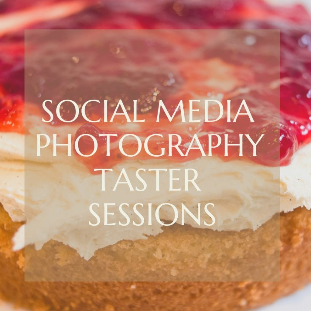 social media photography taster sessions